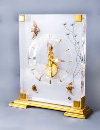 vintage jaeger le coultre marina angel fish desk clock vinterior
