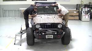 white jeep hood mossy oak camo full jeep wrap shadow grass blades youtube