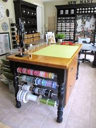 Craft Room Tables - sew many ways sewing and craft room ideas and updates
