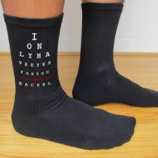 i only have eyes for you custom printed mens socks wedding