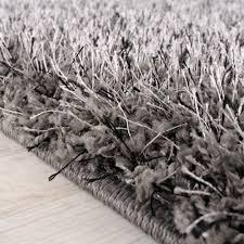 tappeto a pelo lungo tappeto shaggy a pelo lungo leggermente screziato in grigio