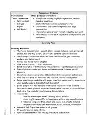 structure and function ubd lesson plan with common core ela citations