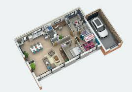 plan maison 3 chambre plan maison plain pied 3 chambres 110m2 meilleur de plan maison 6