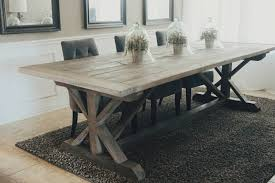 Where To Buy A Dining Room Table Made To Order 108 Inch X Style Farmhouse Trestle Table