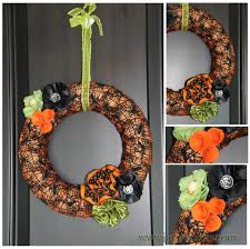 jinky u0027s crafts u0026 designs halloween decor diy ribbon flower wreath