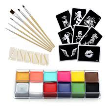 makeup kits for halloween professional body paint oil halloween wax 12 colors for art party