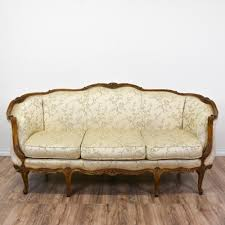 Curved Settees And Sofas by This Victorian Sofa Is Upholstered In A Durable Silk Like Light