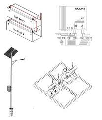 Solar Street Light Circuit Diagram by Schematic View Of On Site Solar Street Light Figure 2 Of 4