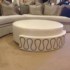 coffee table round upholstered ottoman oversized ottoman cheap