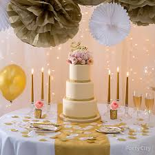 pink and gold cake table decor gold glam wedding cake table idea party city party city
