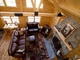 cabin living room decor on unique magnificent log cabin living