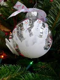 diy baby handprint snowman ornaments fill with clear glass stones