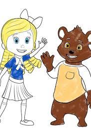 goldie bear goldie colouring disney junior uk
