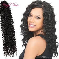 crochet black weave hair dropshipping freetress water weave synthetic braiding hair 18inch