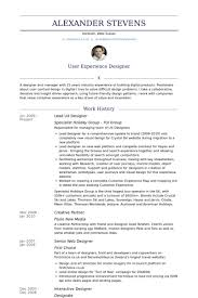 ux designer resume samples visualcv resume samples database