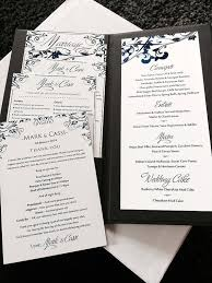 whimsical vines wedding menu card microsoft word template navy