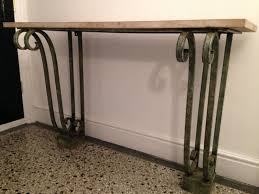 Wrought Iron Console Table Wrought Iron Console For Sale At Pamono