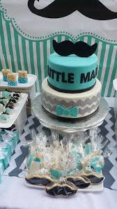 baby shower ideas for boy baby boy themed baby shower ideas tiered blue white chevron