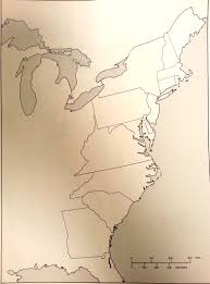 13 Colonies Blank Map by 2013 2014 Reference Ms Kasper U0027s Social Studies Class