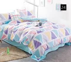Small Single Duvet Quality Cotton Duvet Covers Set Simple Cross Bedding Set Double