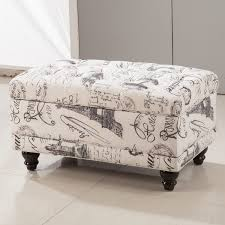 Aqua Storage Ottoman Royal Comfort Collection Traditional Vintage Writing