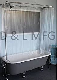 Clawfoot Tub Shower Curtain Liner Wide Vinyl Shower Curtain For A Clawfoot Tub