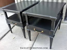 distressed black end table end tables painted glazed distressed annie sloan paint