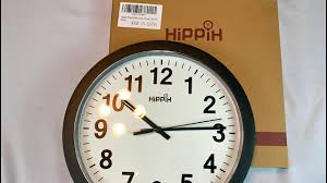 silent wall clocks hippih silent quartz wall clock 12 inch 2311a review youtube