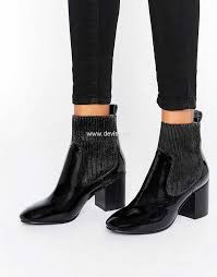 womens boots asos asos remy loafer ankle boots black patent womens asos ankle boots
