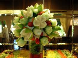 fruit arrangements for using fruit arrangements for your reception centerpieces