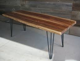 hairpin table legs lowes live edge coffee table three rod hairpin legs also cozy remodeling