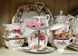 vintage cake stands and tea sets at cake stand heaven