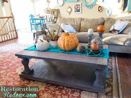 Coffee Table Decorations Easy Thanksgiving Coffee Table Decor Restoration Redoux