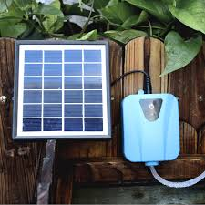 air powered water pump solar powered dc charging oxygenator water oxygen pump pond