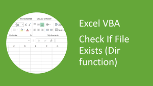 excel vba how to check if file exists dir function youtube