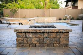 How To Build A Square Brick Fire Pit - paver style fire pits gallery western outdoor design and build