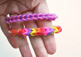 bracelet made with rubber bands images Triple fish tail rainbow loom bracelet using two pencils jpg