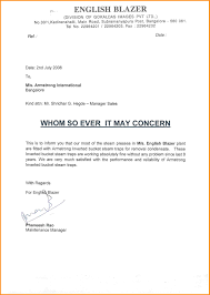 ideas of sample reference letter work experience about sample