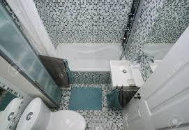 small modern bathroom interior mosaic tiles stock photo picture small modern bathroom interior mosaic tiles stock photo 19380218