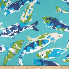 Koi Outdoor Rug P Kaufmann Indoor Outdoor Koi Turquoise Discount Designer Fabric
