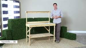 coral coast welford 4 ft wood potting bench with sink product