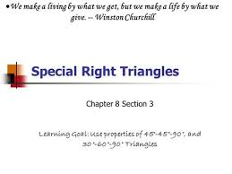 geometry section 9 4 special right triangle formulas ppt video