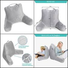 lounge pillow arms bedrest teal reading posture soft back support