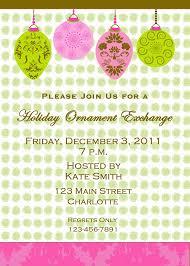 ornament exchange invitation ornament exchange