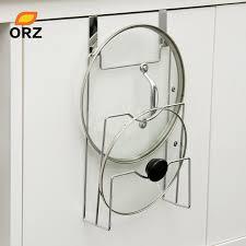 Cabinet Door Pot Lid Organizer Aliexpress Com Buy Cabinet Door Hook Pan Pot Cover Lid Rack