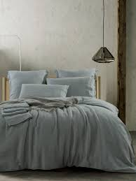 pure french linen sheet set fitted flat sheet set duck egg blue