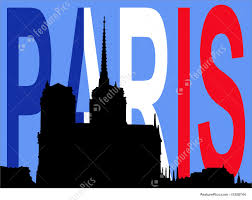 French Flag Pictures Notre Dame Paris And French Flag Stock Illustration I1258744 At