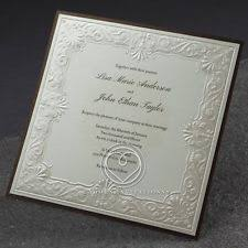 wedding invitations embossed wedding invitation frame ebay