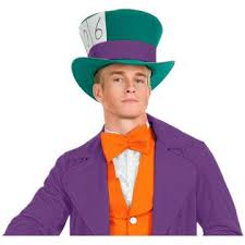 Mad Hatter Halloween Costume Charades Mad Hatter Mens Hat Fancy Dress Halloween