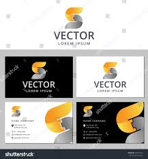 business card template letter logo s stock vector 340706312